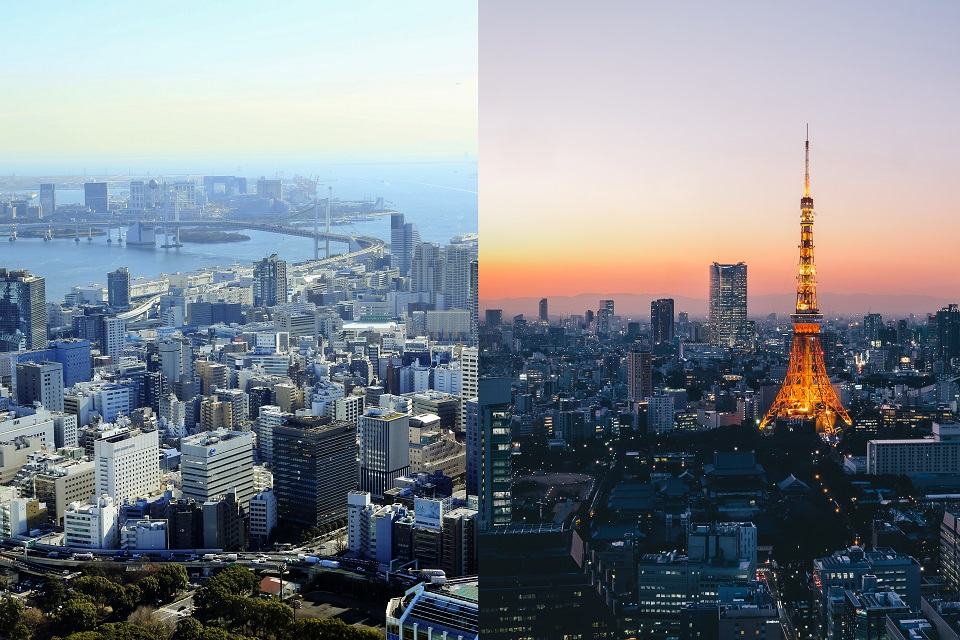 東京タワー、外から見るか、中から見るか?