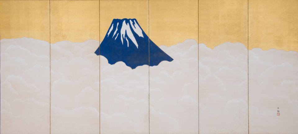 横山大観、日本一長い画巻を公開