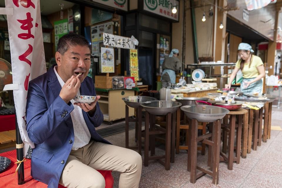 作家・柏井 壽さん <br/>ハマグリ尽くしと朝市の桑名食い倒れ旅へ