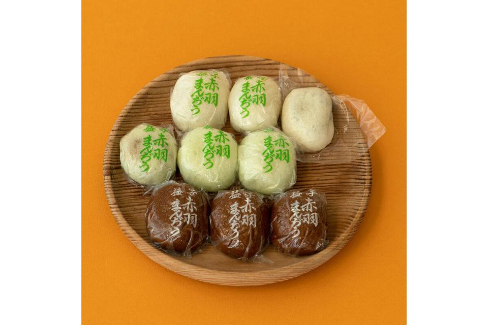 赤羽まんぢう本舗の「赤羽まんぢう」<br>福田里香の民芸お菓子巡礼