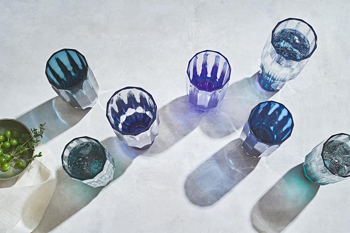 薩摩切子が歴史と技法を守りつつ魅せる<br>新たな日本の伝統美『grad. ice』