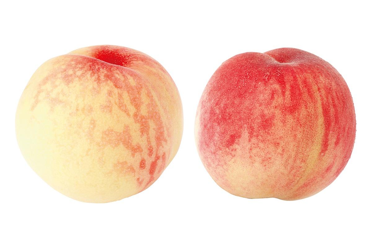 「桃」といえば赤、白、どちらがお好き?<br><small>仁義なきフルーツの戦い</small>