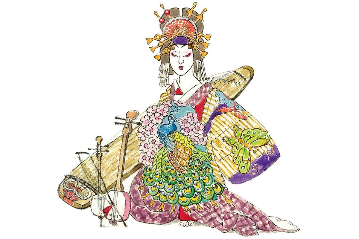 三種の楽器で見極める女心<br>「壇浦兜軍記」阿古屋と重忠<br><small>おくだ健太郎の歌舞伎キャラクター名鑑</small>