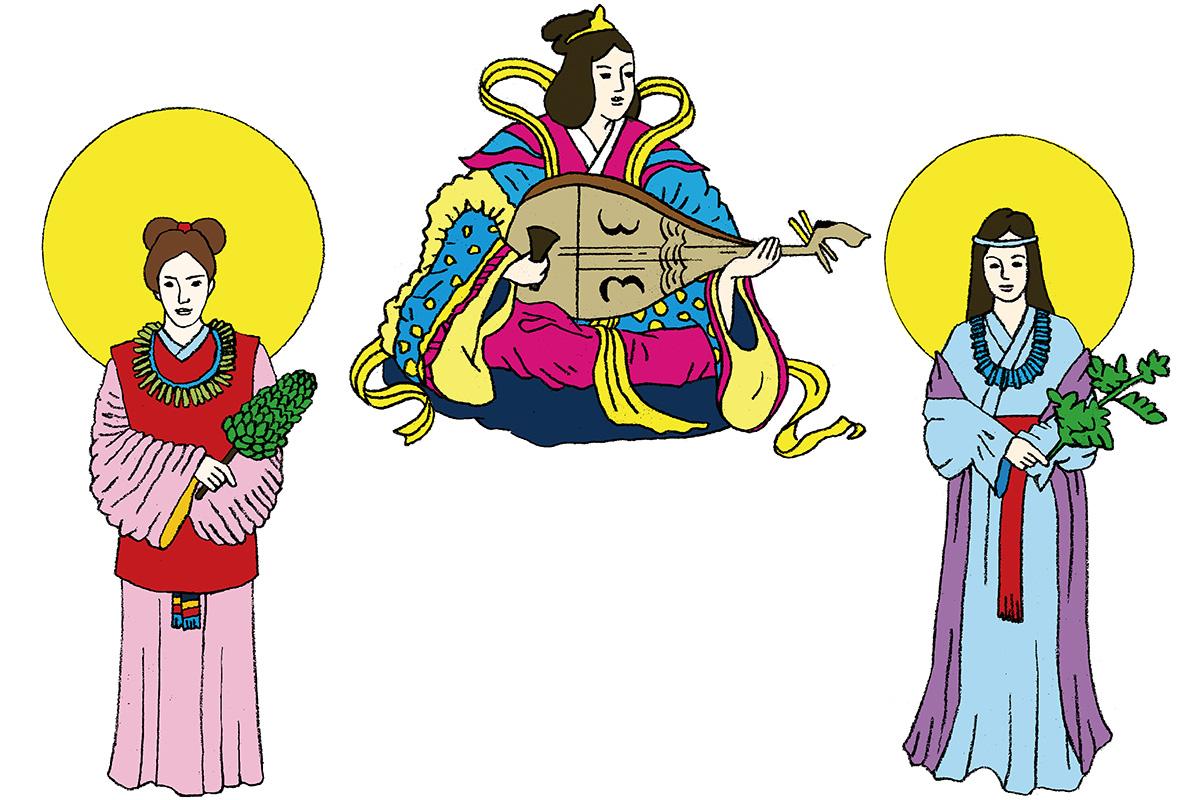 スサノオの剣から誕生した水の神様<br>「多紀理毘売命」「市寸島比売命」「多岐都比売命」<br><small>日本人なら知っておきたいニッポンの神様名鑑</small>