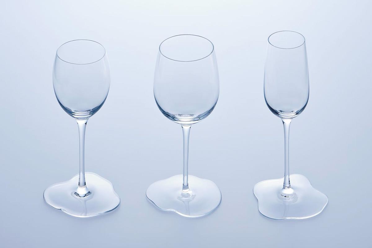 まるで○○? なグラス<br>Fenom×Sghr スガハラがコラボした「ミズモレグラス」