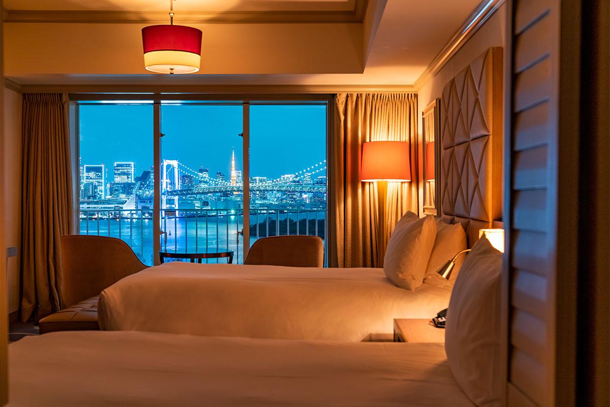 「ヒルトン東京お台場」<br>絵画のように東京の風景を眺める<br>アーバンリゾートホテル