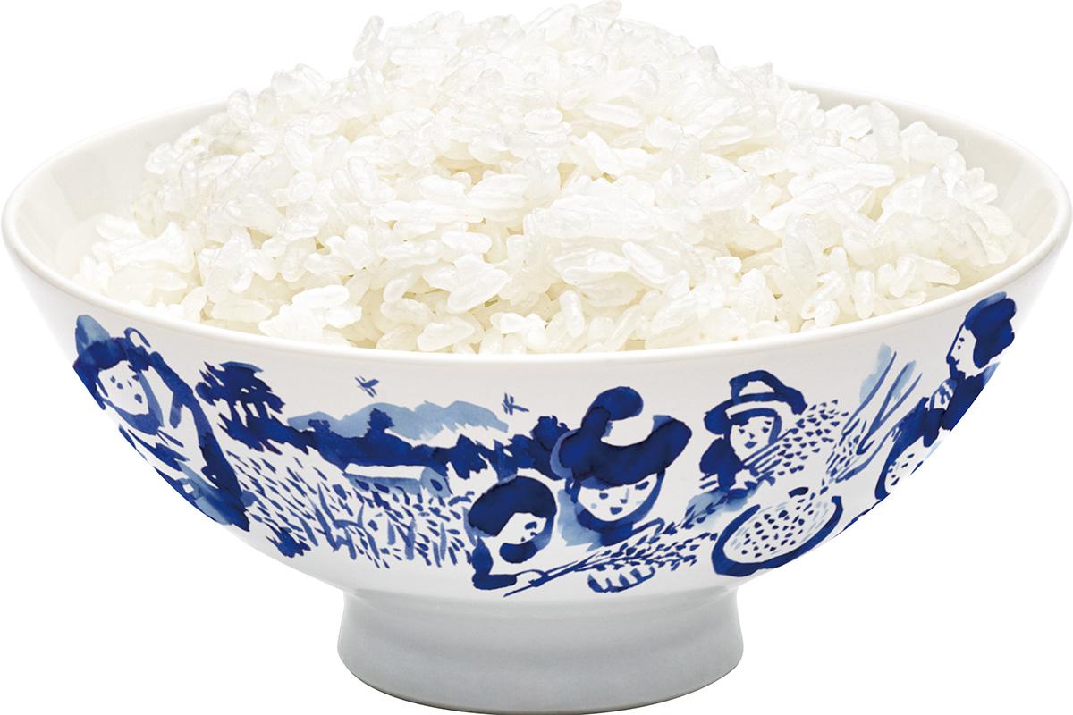 福笑い 米 ご飯