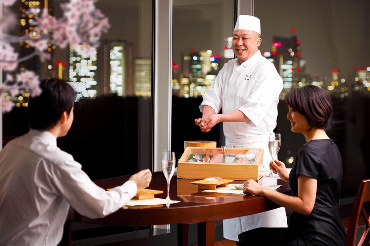 ホテルニューオータニから久兵衛の寿司職人をひとり占め!プライベート寿司会席付、春のお花見おこもりプラン登場