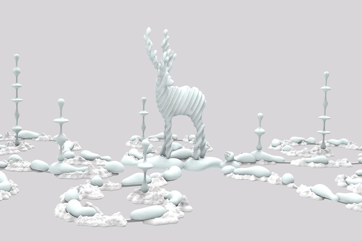 GINZA SIX 中央吹き抜け新作アート!<br>先見性と創造性をあわせもつ、日本を代表する彫刻家・名和晃平の作品を展示