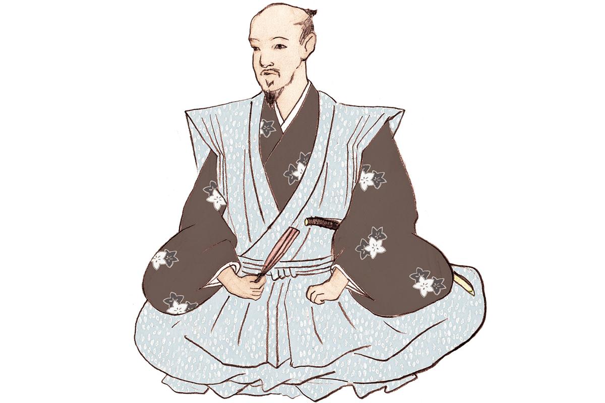 城造りの名人として名を馳せた、<br>加藤清正<br><small>「戦国武将名鑑」</small>