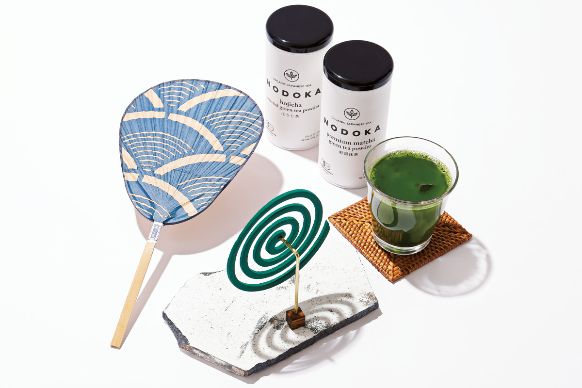 <small>蚊取り線香立て、うちわ、日本茶…</small><br>ニッポンの夏を愉しむギフトセット