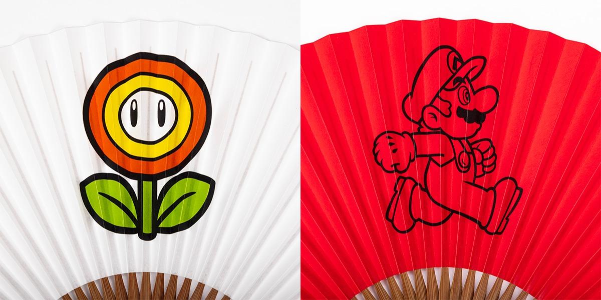 """<small>パルコ×スーパーマリオ コラボアイテム</small><br>Discover Japan Lab.では、夏のお出かけを彩る""""扇子""""を販売!"""